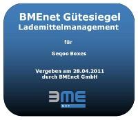 Gütesiegelstempel für Lademittelmanagement verliehen von BMEnet auf der CeMAT 2011