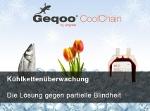 Kurzinformationen zum Kühlkettenmonitoring mit Geqoo CoolChain